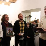 Fotografie z jiné akce, ze slavnostního otevření Minipivovaru, Ing. Sochor st. majitel pivovaru Zlatá kráva druhý zleva.
