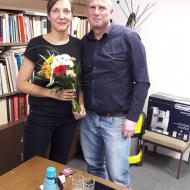Joti Brar a předseda Plzeňského KV KSČM Mgr. Miroslav Kavij