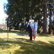 Momentka z odhalování památníku rudoarmějcům.