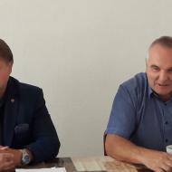 Zleva lídr kandidátky - Jiří Valenta, vpravo Josef Švarcbek - 2. na kandidátce