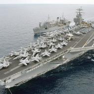 Na toto cvičení NATO se přesouvá přes Atlantik letadlová loď USS Harry S. Trumann (foto zdroj wikipedie).