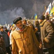 Schwarzenberg v roce 2014 na kyjevském Majdanu