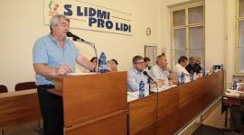 Vojtěch Filip při úvodním projevu na sobotním jednání ÚV KSČM. FOTO – Haló noviny/Roman BLAŠKO